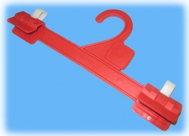 Moulded Clip Hanger Polyethylene Body - Acetyl Clips